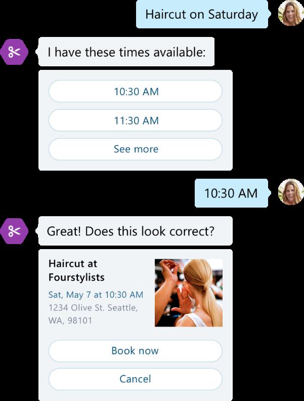 Conversation avec prise de RDV