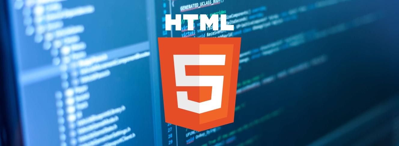 logo HTML sur fond code