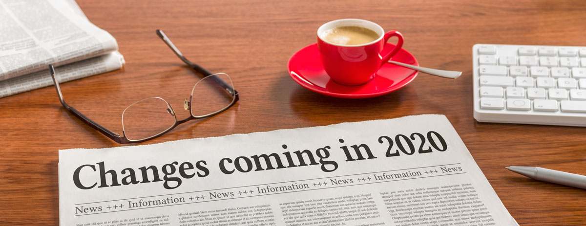 "Journal sur table avec ""changes coming in 2020"""